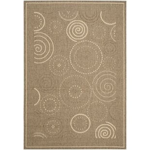 Mullen Circles Indoor/Outdoor Power Loomed Area Rug