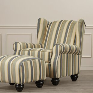 Clearance Brougham Wingback Chair ByDarby Home Co