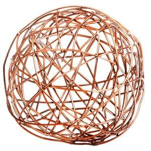 Copper Crazy Weave Orb Sculpture