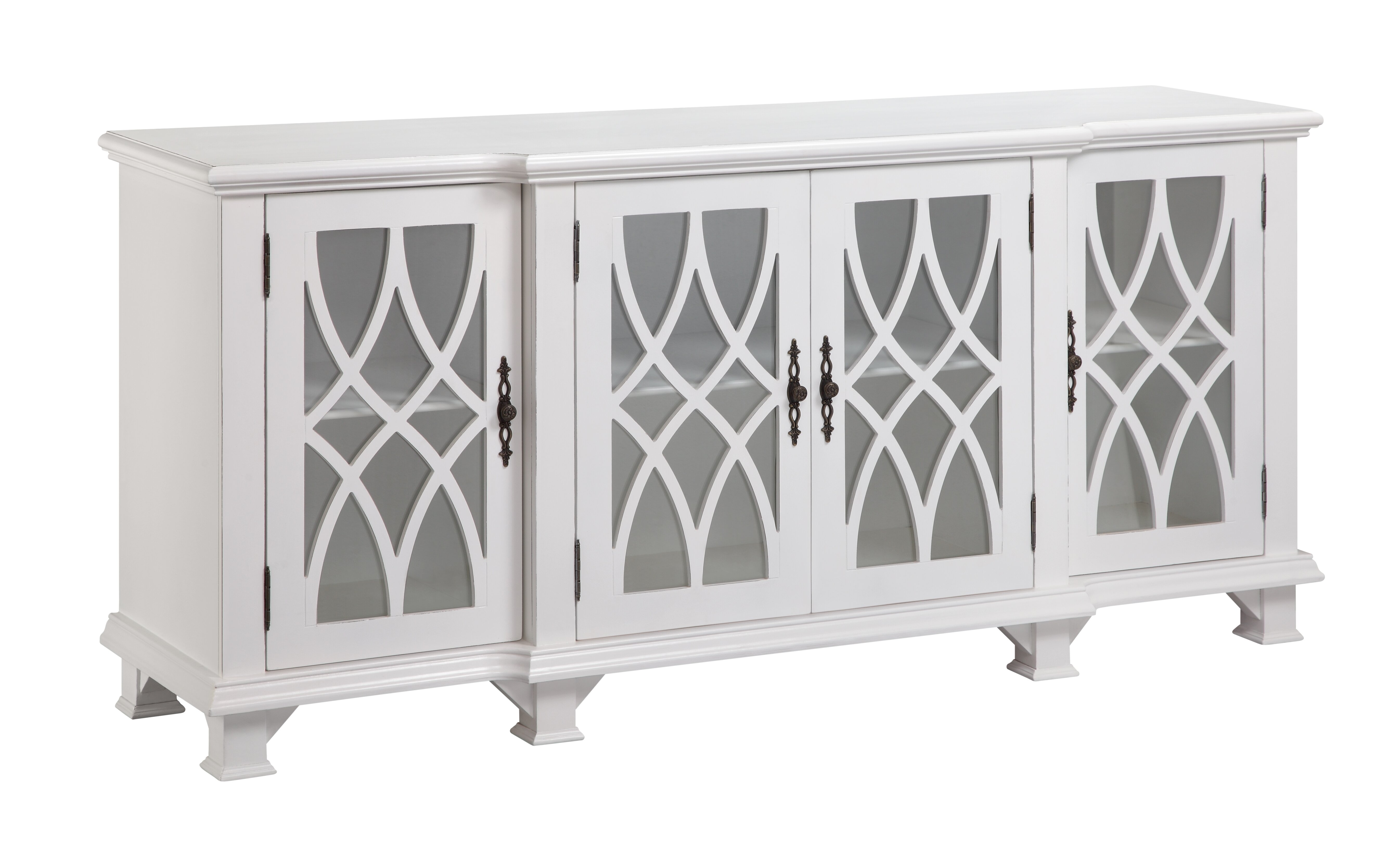 Dark Wood Mirrored Credenza : Tott and eling sideboard & reviews birch lane