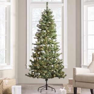 Green Fir Artificial Christmas Tree With Clear Lights