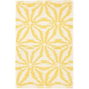 Aster Hooked Gold Area Rug byDash and Albert Rugs