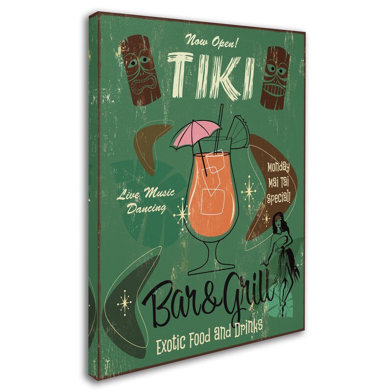 "Tiki Poster 11/"" x 17/"" Reproduction Hawaiian Eye Art from TV Show"