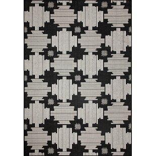Louane Ivory/Black Indoor/Outdoor Area Rug
