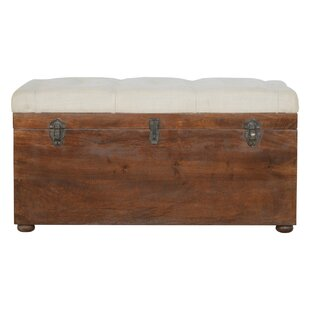 Patnaude D-Button Solid Wood Storage Bench