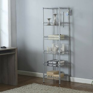 Aubree 6-Tier Sturdy Wire Shelving Steel Baker's Rack by Rebrilliant
