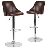 Swivel Adjustable Height Bar Stool (Set of 2) by Wrought Studio™