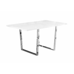 Affordable Dacian Metal Dining Table ByLatitude Run
