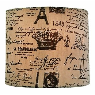 Eggshell And French Print Drum Lamp Shade