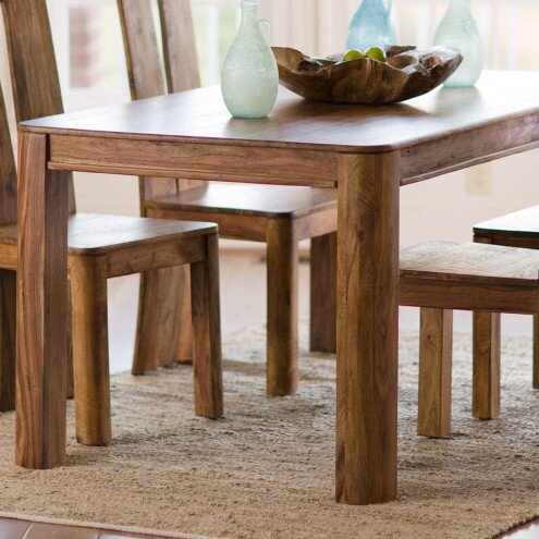 Union Rustic Tippett Sheesham Solid Wood Dining Table Wayfair