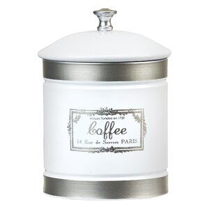 Country Farmhouse Metal 1.12 qt. Coffee Jar