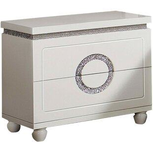 Lavada Wooden 2 Drawer Nightstand