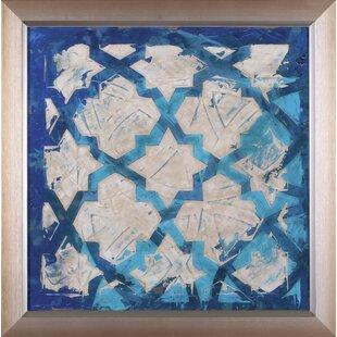 Stained Glass Indigo Iu0027 Framed Print