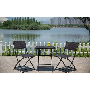 Fontaine Bistro 3 Piece Dining Set by Ebern Designs