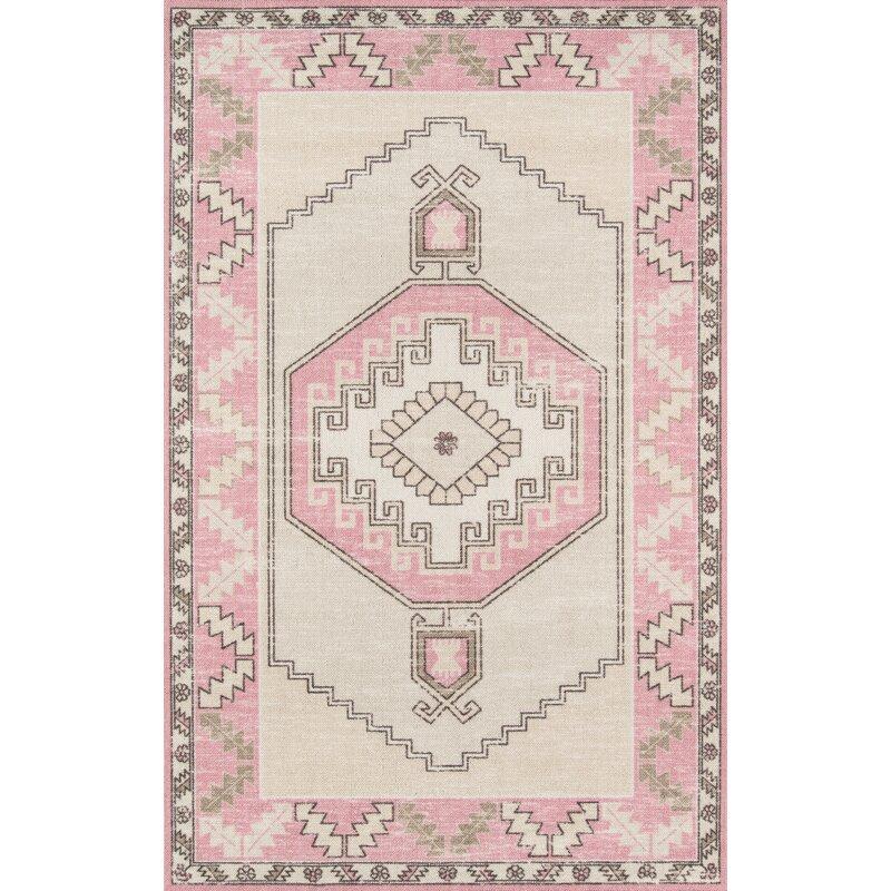 Moyer Indoor Pink Area Rug