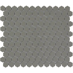 London 1 inch  x 1 inch  Porcelain Mosaic Tile in Gray