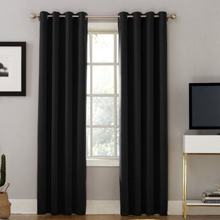 Oslo Max Blackout Home Theater Grade Solid Blackout Thermal Single Curtain Panel by Sun Zero