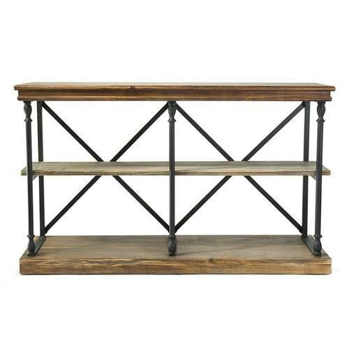Christopher Rustic 3 Shelf Console Table