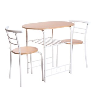 Hoopes Compact 3 Piece Dining Set by Ebern Designs