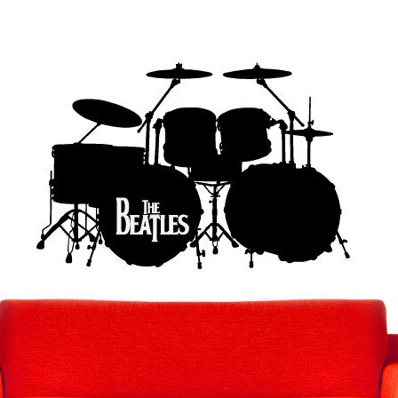 The Beatles Drum Set Wall Decal