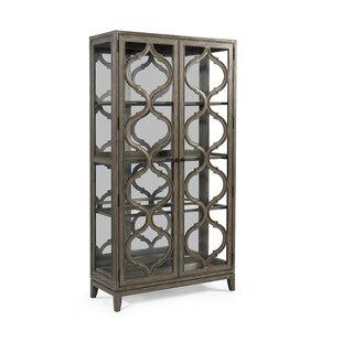 Gracie Oaks Jewell Lighted Curio Cabinet