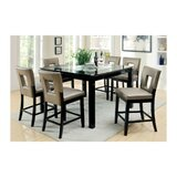 Kinston Counter Height Solid Oak Dining Table by Wrought Studio™