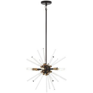 George Kovacs by Minka Spiked 6-Light Sputnik Chandelier