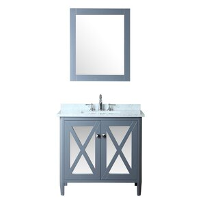 Summit 36″ Single Bathroom Vanity Set with Mirror
