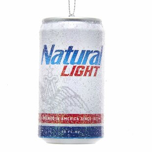Budweiser Natural Light Can Shaped Ornament By Kurt Adler