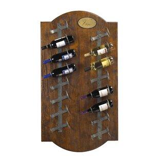 Fleur De Lis Living Belfield 16 Bottle Wall Mounted Wine Rack