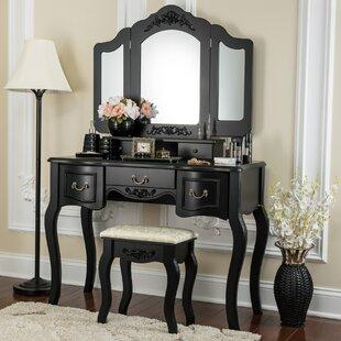 Astoria Grand Benson Vanity Set with Mirror