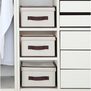 Best Reviews Storage Natural Canvas Polyester Box (Set of 3) By Rebrilliant