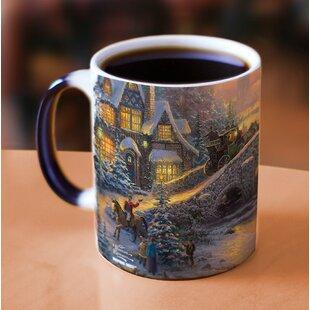 Thomas Kinkade Spirit of Christmas Heat Reveal Coffee Mug