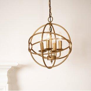 Gracie Oaks Maxey 4-Light Globe Chandelier