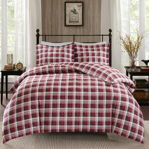 Tasha 100% Cotton Flannel 3 Piece Duvet Cover Set