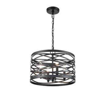 Alcott Hill Melnick 4 Light Shaded Geometric Chandelier Wayfair