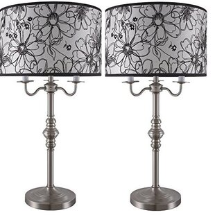 Rukaiya Pencil Art Flower Design 29.5 Table Lamp (Set of 2)