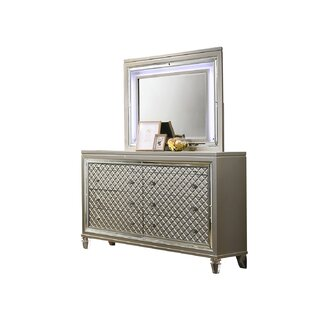 Pippin 8 Drawer Dresser with Mirror by Rosdorf Park