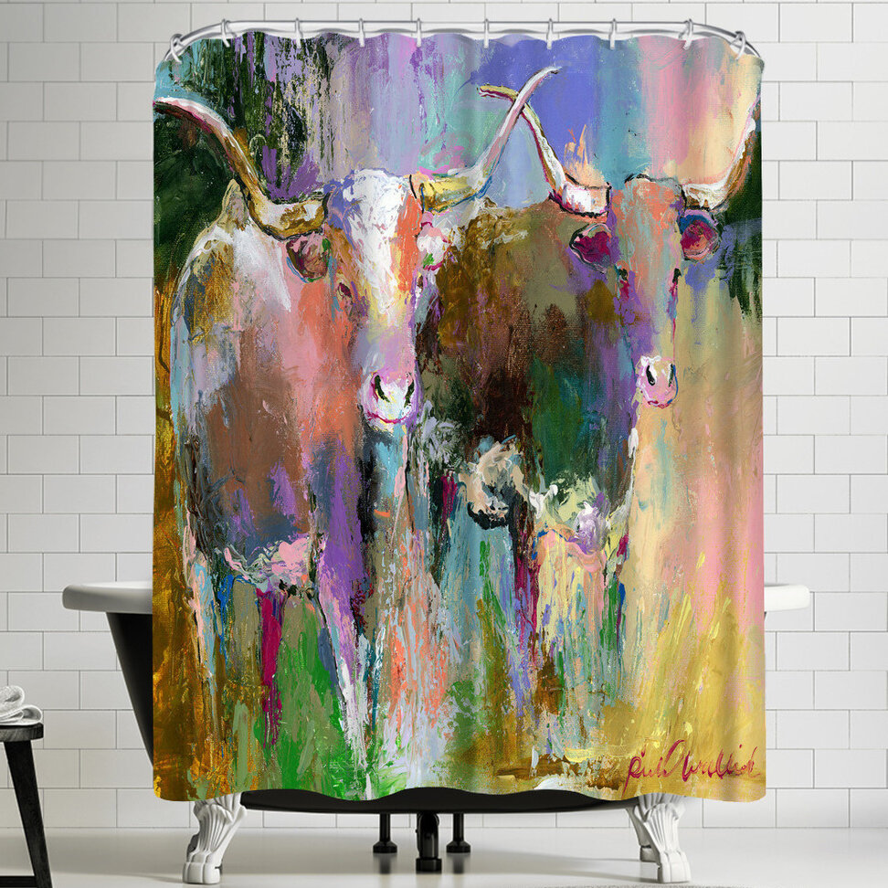 East Urban Home Richard Wallich Texas Longhorns Shower Curtain
