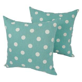 Rasalhague Polka Dot Outdoor Throw Pillow (Set of 4)