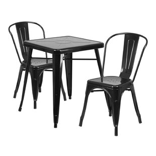 Guarino Indoor/Outdoor 3 Piece Dining Set by Williston Forge Cool