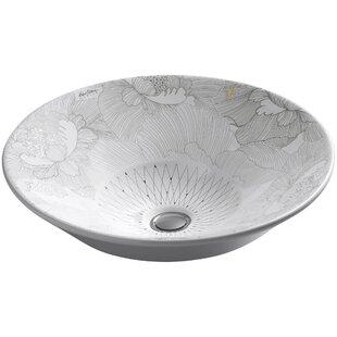 Reviews Empress Bouquet Ceramic Circular Vessel Bathroom Sink By Kohler