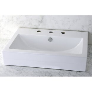 Great deal Century Ceramic Rectangular Vessel Bathroom Sink By Kingston Brass