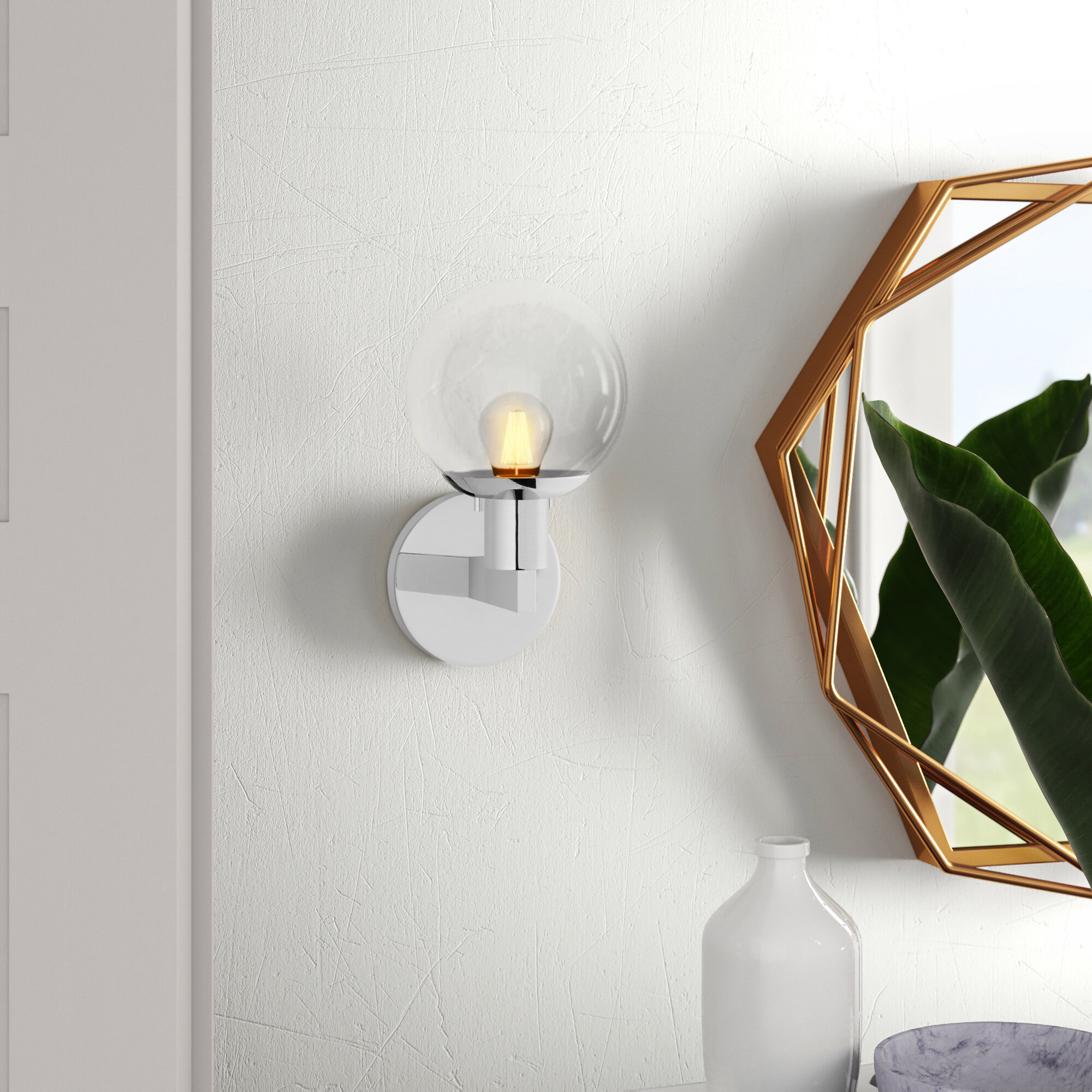 Polished Chrome Wall Sconces You Ll Love In 2021 Wayfair