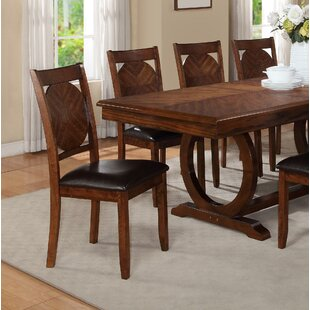 Coraline Round Solid Wood Dining Chair (Set of 2) Millwood Pines