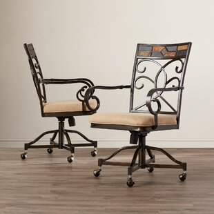 Zamudio Upholstered Slat Back Dining Chair (Set Of 2) By World Menagerie