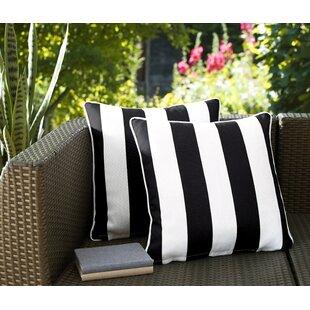 Fawcett Water Resistant Stripe Indoor/Outdoor Throw Pillow (Set of 2)