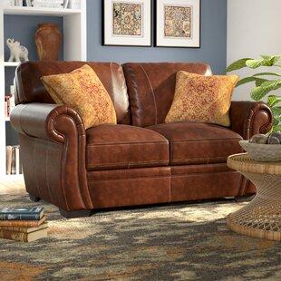 Devonne Leather Loveseat