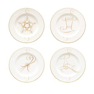 Wave Holiday 4 Piece Appetizer Plate Set (Set of 4)