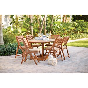 Shanklin 7 Piece Dining Set with Cushion